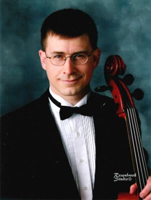 professional cellist Dr Benjamin Whitcomb